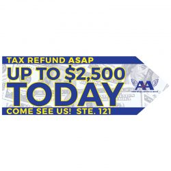 signs-yard-sign-directional-safety-large-format-a-frame-sidewalk-sign-business-sign-a&a-credit-repair-and-tax-services